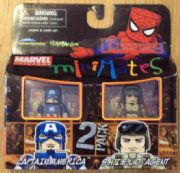 Marvel Minimates Captain America & SHIELD Agent Ultimates Series 27 Action Figures